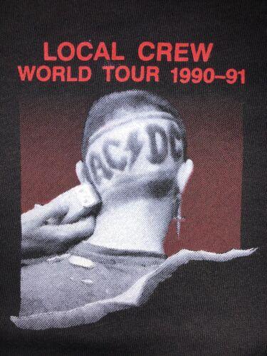 AC/DC Band Vintage 1990-91 World Tour Local Crew Black Brockum Group T-Shirt