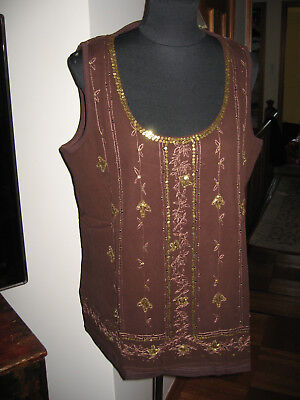 NWOT Taillissime LA REDOUTE Size 18/20 SLEEVELESS EMBROIDED TOP COTTON for sale  Brooklyn