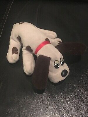 "1985 TONKA POUND PUPPIES 8"" Gray BrownMINI STUFFED ANIMAL PLUSH DOG #867"