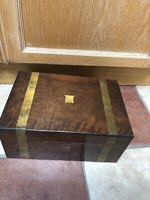 Antique Wood Writing SlopeBox