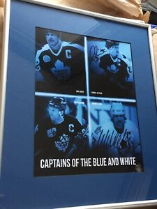Toronto Maple Leafs Captains Signed/Framed Print w/ COA