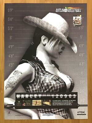 Outlaw Volleyball Xbox 2003 Vintage Print Ad/Poster Official UK Promo Art Rare