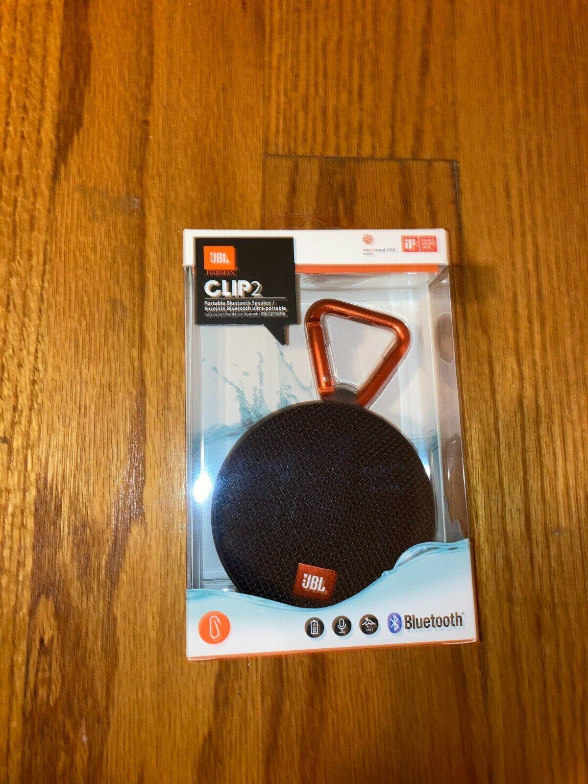 JBL Clip 2 Waterproof Portable Wireless Bluetooth Speaker -