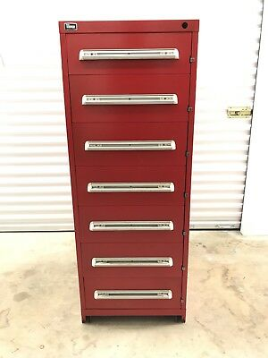 Stanley Vidmar 7 Drawer Cabinet - Eye Height. Model Rp3502al
