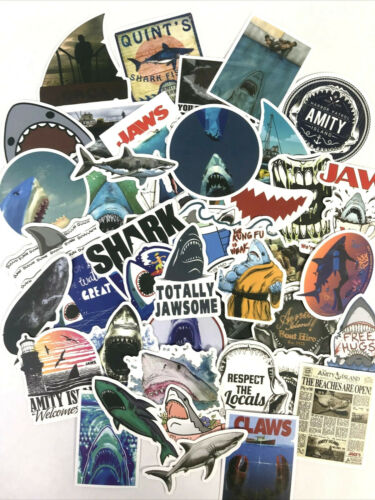 50pc Cool Aquatic Ocean Sharks Jaws Notebook Laptop Decal Sticker Pack
