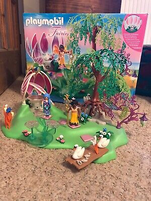 Playmobil 5444 Fairy Island with light up jewel fountain boxed.