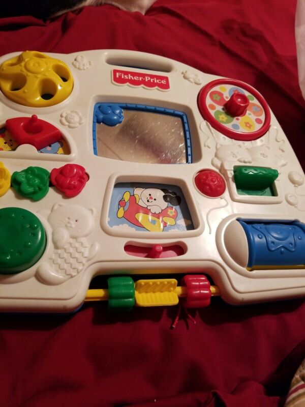 1993 Fisher Price Crib Toy Hanging Busy Box Activity Center