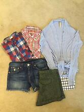 True religion, Zara shorts, Zara top and 3 more (to fit size 11/1 Bondi Junction Eastern Suburbs Preview