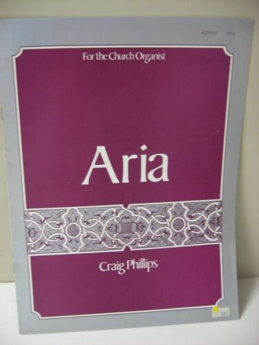 Craig Phillips ARIA for the Church Organist Organ Sheet Music Broadman Press