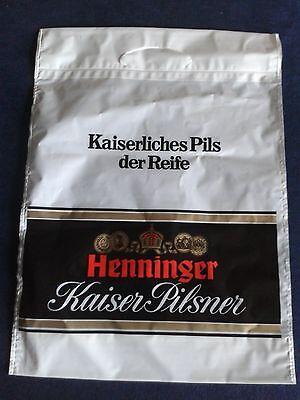 Henninger  Kaiser Pilsner Plastiktüte/Einkaufstüte für Sammler