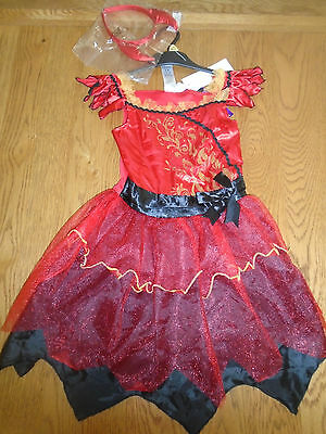 BNWT girls Devil fancy dress up outfit.(Halloween) 3-4 yrs.Tesco](Tesco Fancy Dress Halloween)
