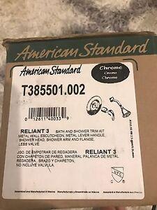 Reliant 3 shower trim kit chrome
