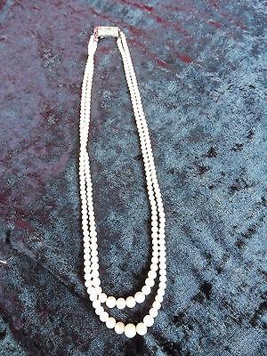 Schöne, alte Perlenkette __mit 835 Silberschliesse__!
