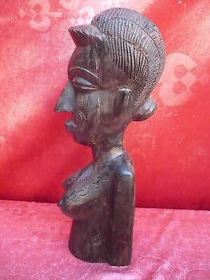 antique wooden figure __ Bust__Africa __31cm__ More Than 1,7kg__