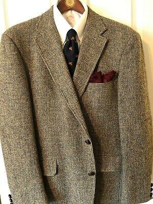 Orvis/Harris Tweed 44R Camel-Gray Tickweave Odd-Jacket 3/2 Roll Preppy EUC
