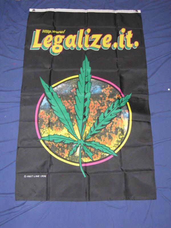 3X5 LEGALIZE IT MARIJUANA FLAG POT LEAF WEED BUD F668