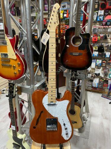 Aria 615 Electric Guitar. Natural Finish Okume Thinline Body. Maple Neck & Board