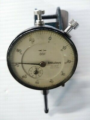 Mitutoyo 2416 Dial Indicator .001 Japan With Magnetic Clamp