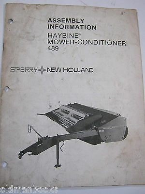 New Holland 489 Haybine Mower Conditioner Assembly Information Manual