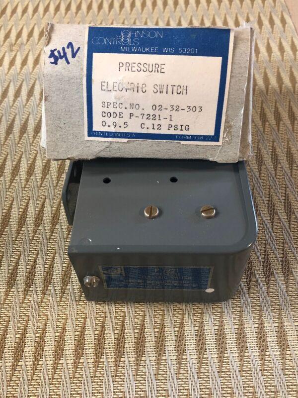 Johnson Controls P-7221-1 Pressure Electric Switch NEW