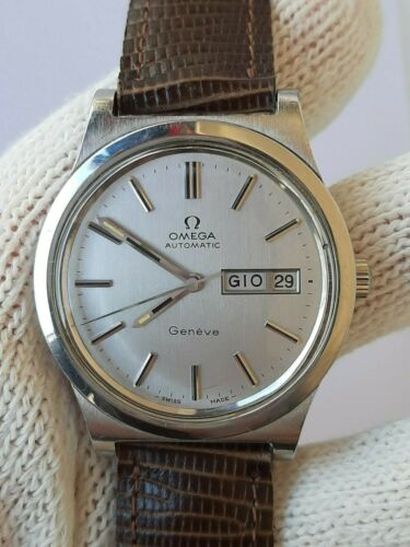 OMEGA GENEVE 166.0169 AUTOMATIC CAL.1022 DAY DATE MENS 36.5mm SWISS.THSERVICED