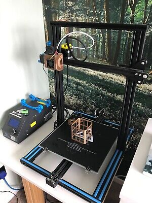 Creality CR-10(S) 3D Printer with white pla filament 300x300x400mm with mods