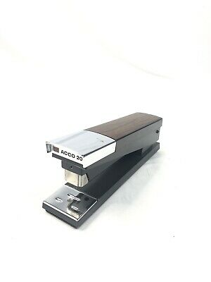 Acco 20 Stapler Heavy Duty 2-tone Brownchrome Desktop Office Pull Out Load