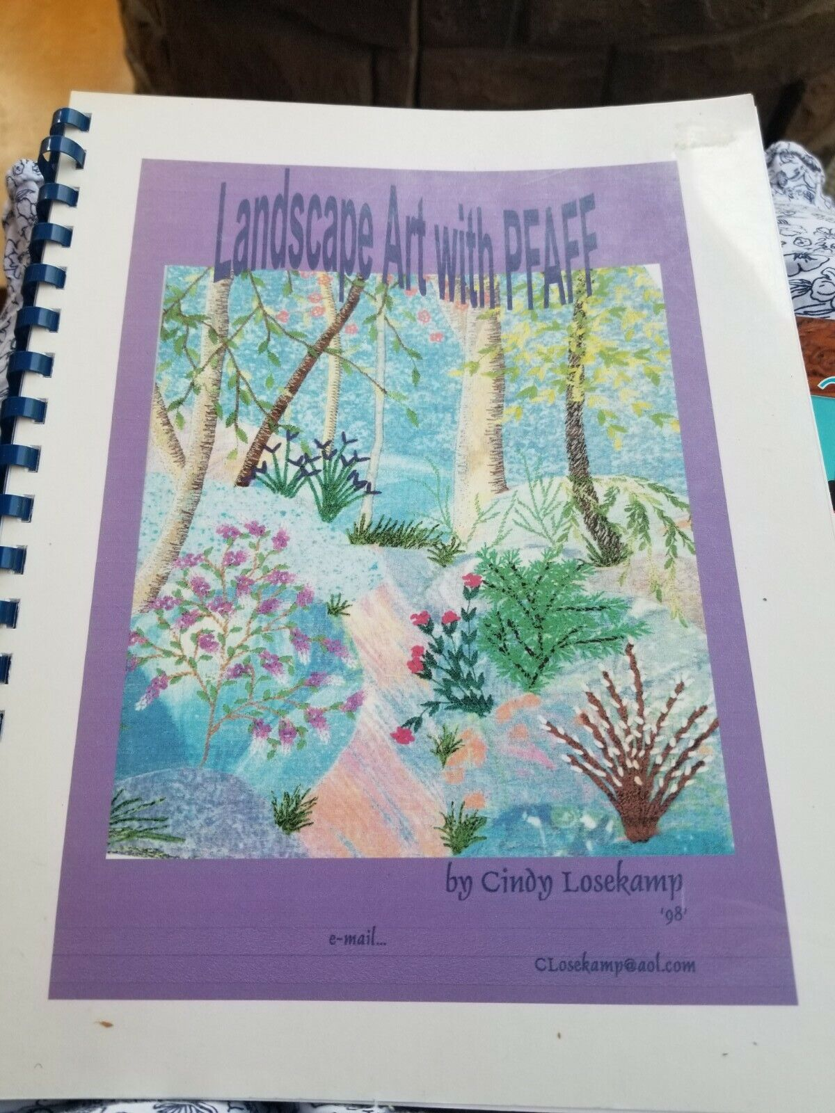Landscape Art With Pfaff By Cindy Losekamp For Pfaff Sewing Machine - $8.00