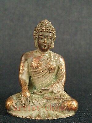 Collection China Tibet Copper Carving Sakyamuni Buddha Statue Decoration Gift