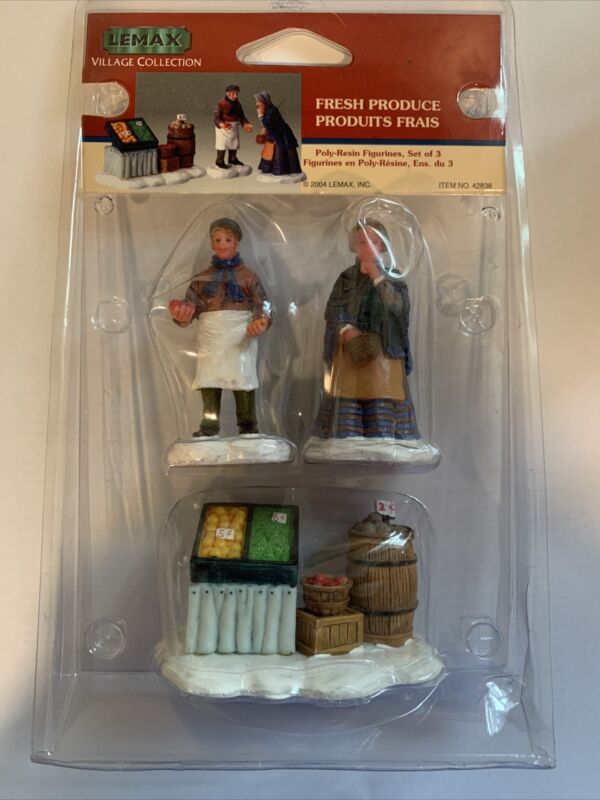 Lemax Village Collection Fresh Produce 42838 Discontinued New Figurine Set Of 3