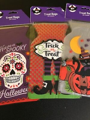Halloween Treat Candy Bags Total Of 60 Bags Designs May Vary Resealable