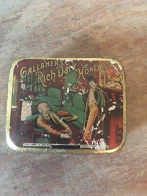 Vintage Gallaher's Rich Dark Honeydew Tobacco Small Tin/Striker 6 x 5 x 2cm for sale  Shipping to Ireland