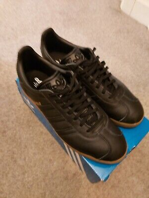 Adidas Gazelle Trainers Core Black Gum Trainers Shoes size 11