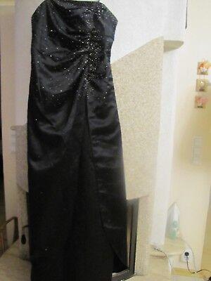 38/40 Ball Hochzeit Kleid schwarz Dekosteine schön ausgefallen Maße beachten.