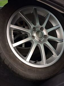 """4 mags 17"""" Rssw  +tires 5x112 5 x 112"""