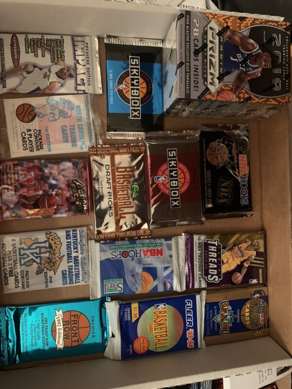 Huge Lot Of Unopened Basketball Packs Unopened Basketball Cards Nba Estate Sale