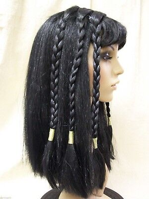 Adult Cleopatra Costume Wig Egyptian Queen of Nile Ancient Mummy Princess - Mummy Princess Costume