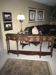 "Hall console table by hooker furniture 72""wide 12""deep34""high"