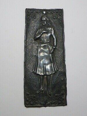 Silver Votive Offering Votivblech Ex Voto Standing Girl Silberstempel 1000