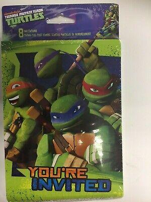 TMNT Teenage Mutant Ninja Turtles Invite and Thank You Cards Combo, 8-Count - Ninja Turtle Birthday Invitations