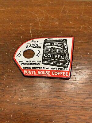 White House Coffee Chicago Pot Pan Kitchen Metal Scraper Sign Vintage Like?