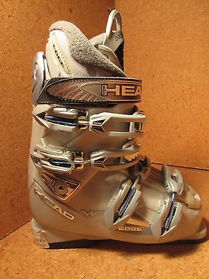 Head Edge HF L Grey Womens Snow Ski Boots Mondo 23.5 NEW 6.5 Womens