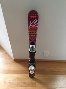 Excellent condition only one season k2 luv bug skis