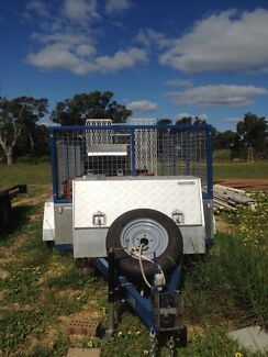 9x5 EXTRA HEAVY DUTY TANDEM BOX CAGE TRAILER