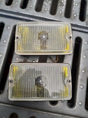 Mini de tomaso Turbo Lights Yellow Bumper siem New Old Stock Original