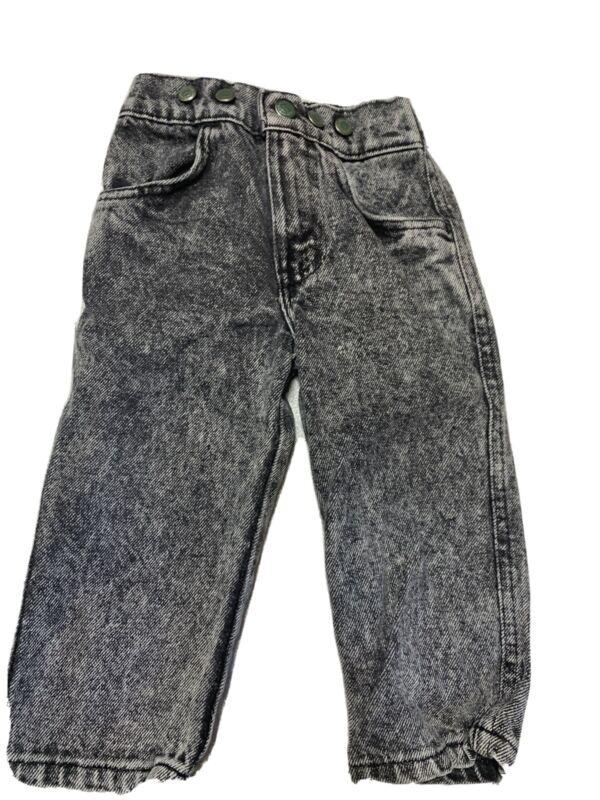 Vintage Little Levis Jeans Toddler Kids Size 2T Black Stlne Washed
