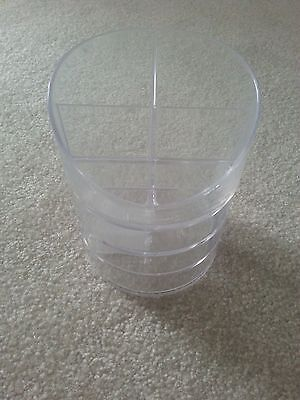 Rubbermaid Small Clear Plastic Storage Divided Pencil Cup