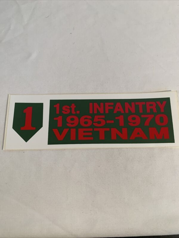 US Army 1st Infantry 1965-1970 Vietnam Bumper Sticker