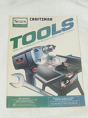 VINTAGE 1980 SEARS CRAFTSMAN POWER & HAND TOOL CATALOG BOOK