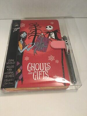 The Nightmare Before Christmas Jack And Sally Ghouls And Gifts Journal W/Pen